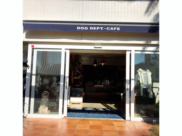 DOG DEPT + CAFE 湘南江ノ島店のエントランス