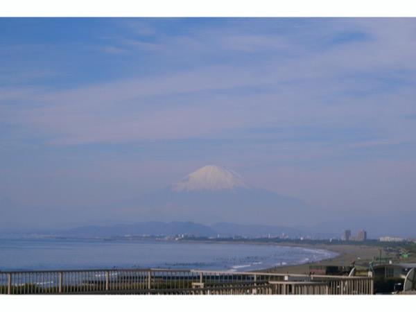 冬の晴れた日に行くと、富士山がくっきり綺麗に見えます