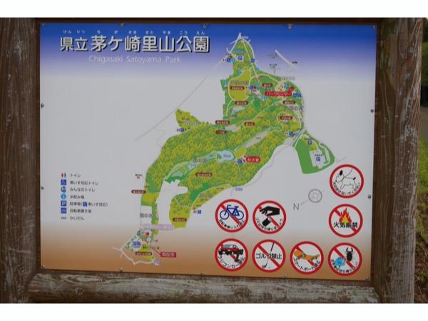 茅ヶ崎里山公園のマップ