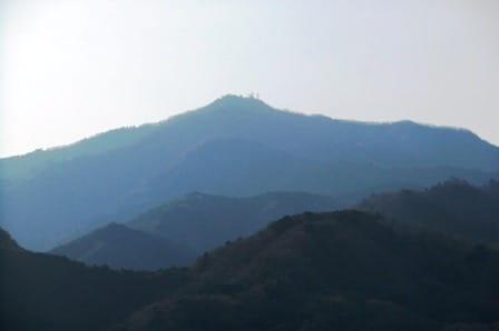 七沢森林公園展望台からの大山