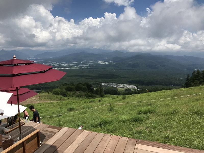 清里テラス プレミアムシートからの景色