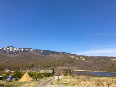 バラギ湖を望む無印良品カンパーニャ嬬恋キャンプ場