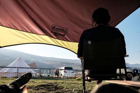 バラギ湖を眺めながらゆっくり過ごすひと時