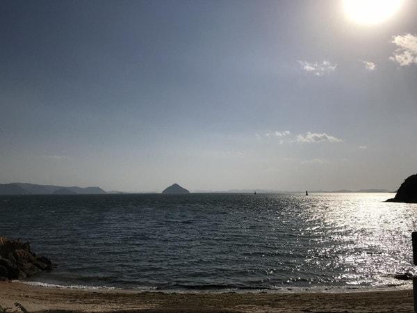 直島から見た瀬戸内海