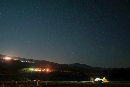 無印良品カンパーニャ嬬恋キャンプ場から見上げる満天の星空