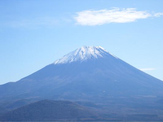 パノラマ台ハイキングコースから見た富士山