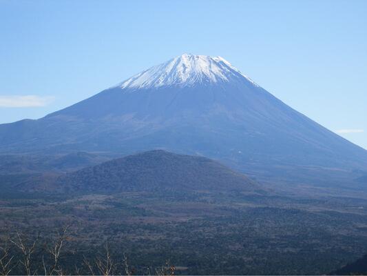パノラマ台ハイキングコースから見える山