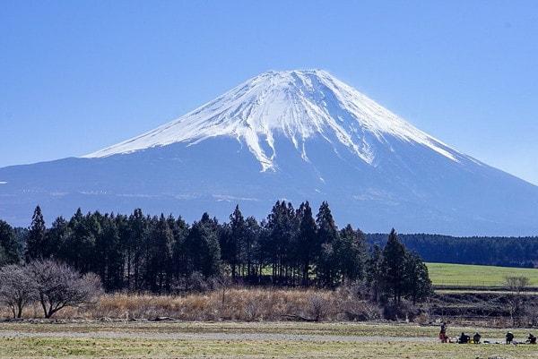 ふもとっぱらキャンプ場から見える富士山