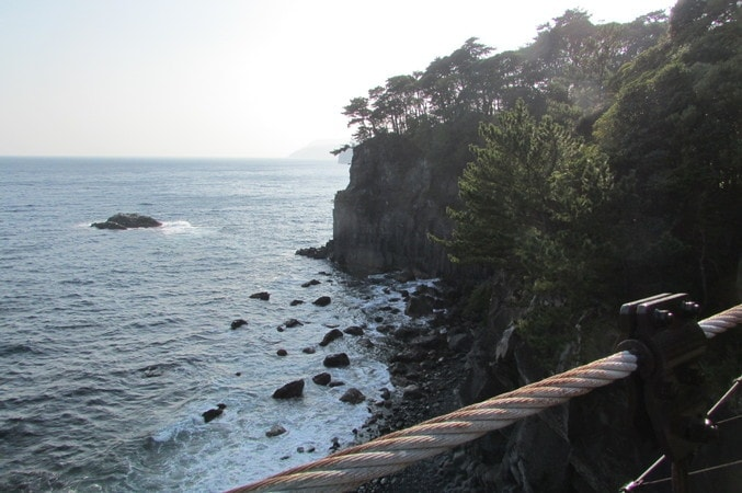 橋立吊橋の風景