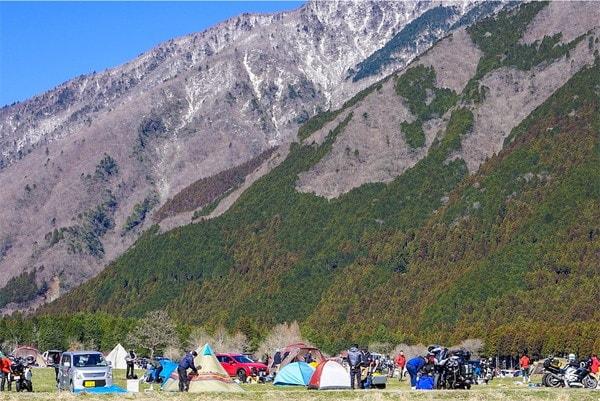 ふもとっぱらキャンプ場の山々