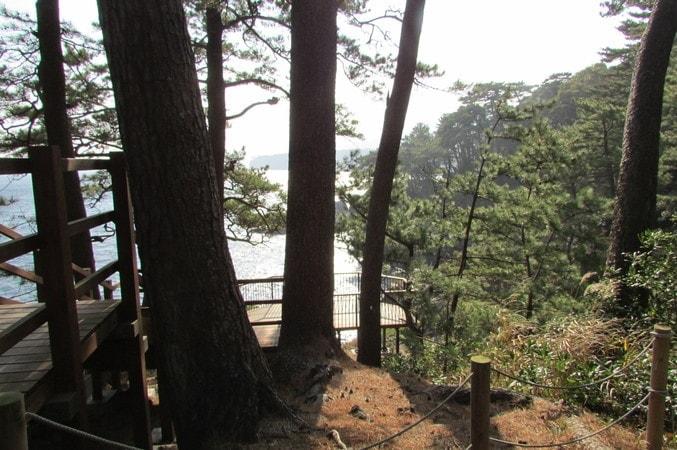 対島の滝展望台