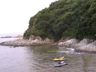 篠島の海岸線