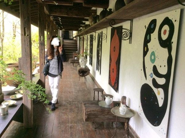 ギャラリー夢宇谷のアプローチ