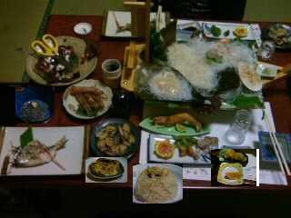 日間賀島民宿たかせの夕食