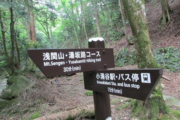 浅間山ハイキングコース案内板