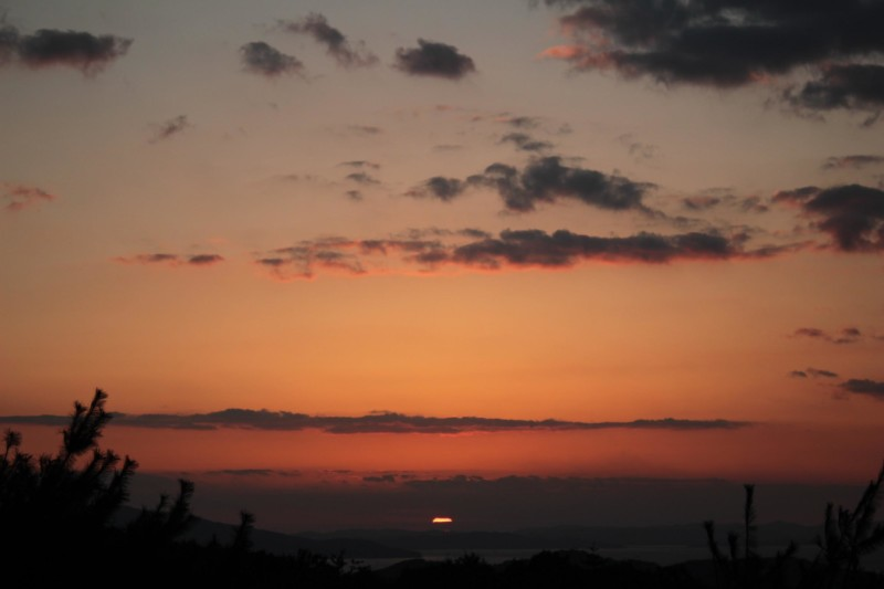 リゾートホテルオリビアン小豆島からの夕日