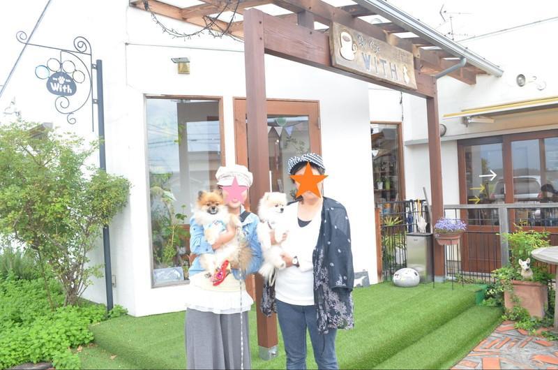 安曇野のDOGCAFE WITHで愛犬と記念撮影