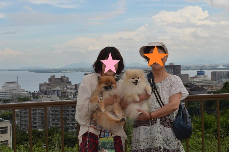 高山わんわんパラダイスで愛犬と記念撮影