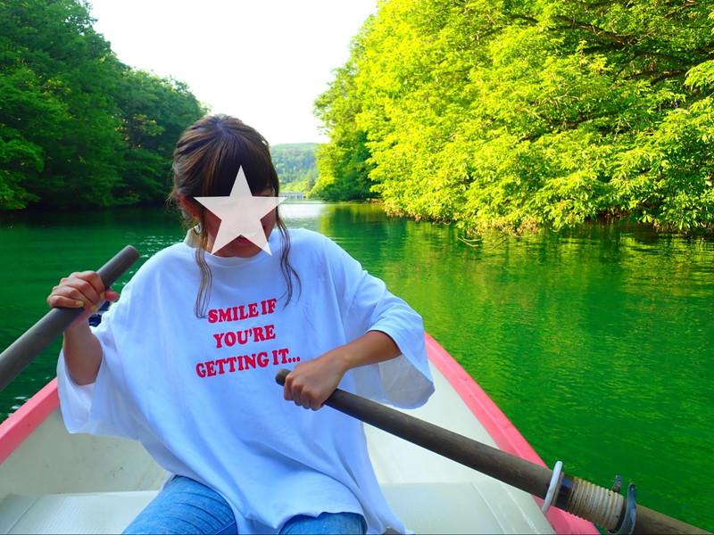 RV RESORT猪苗代湖モビレージでカヌーに乗る