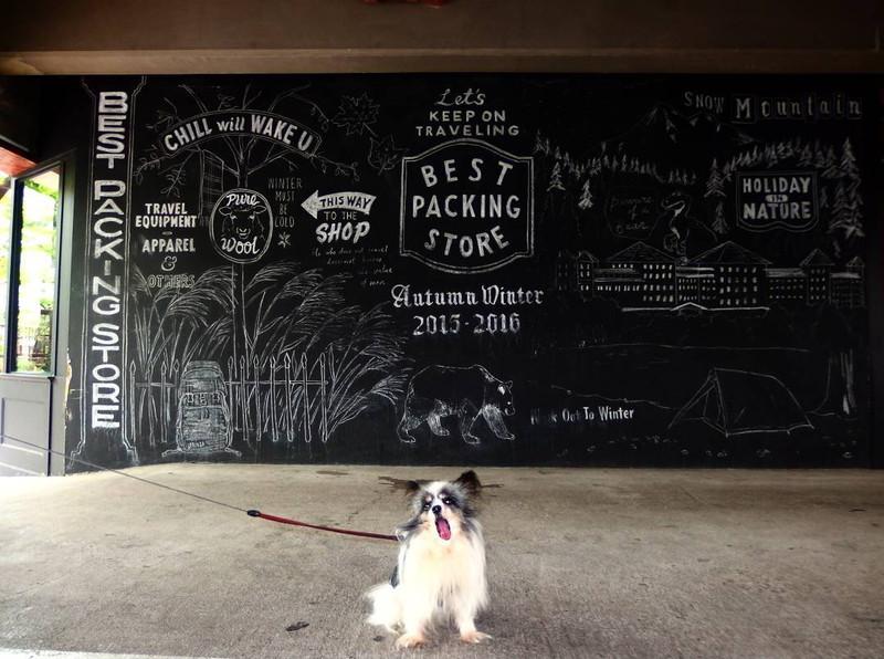 ショップの外壁一面が黒板だなんてヤられたなあ 中目黒 Best packing storeにて