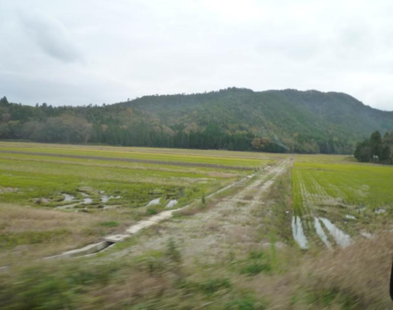 須賀谷温泉までの車窓から見た景色