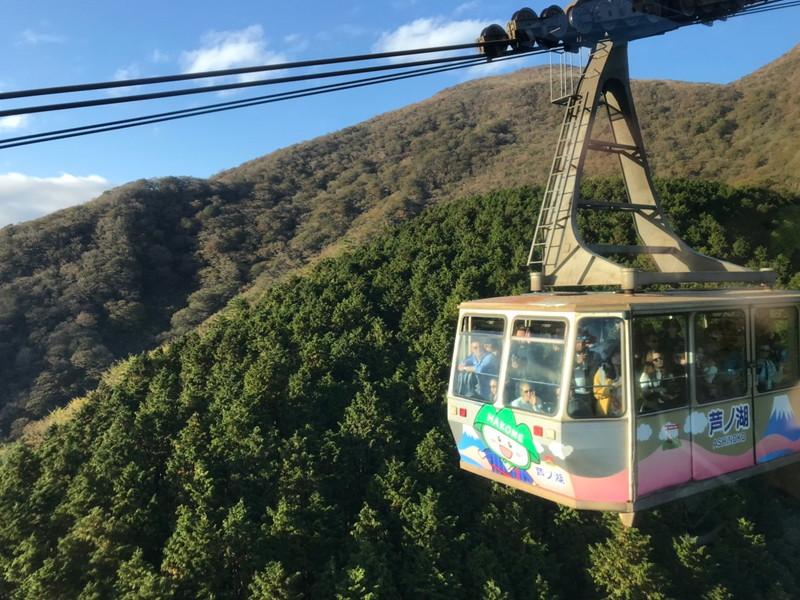 箱根駒ヶ岳ロープウェー中間地点