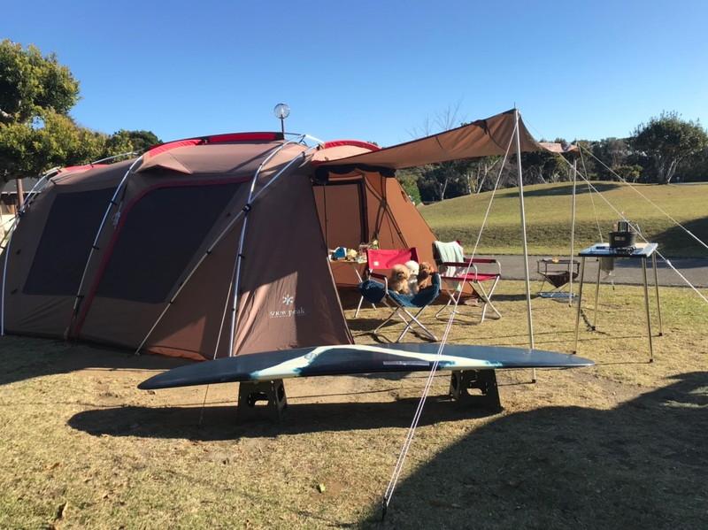 志摩オートキャンプ場 テントサイト(日中)