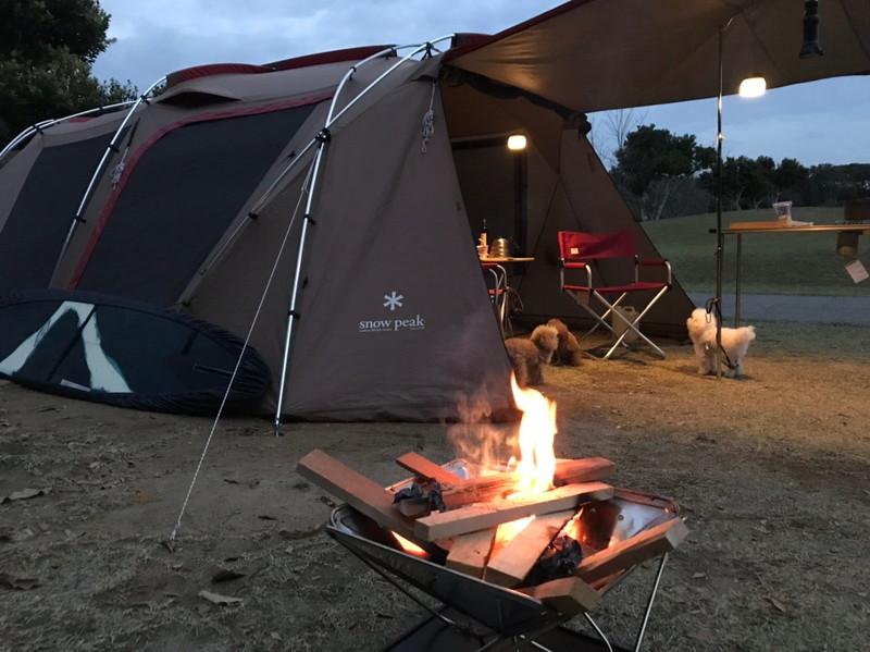 志摩オートキャンプ場 テントサイト(夕方)