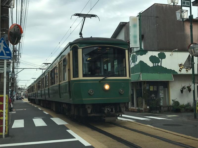 江ノ電(車と対面)