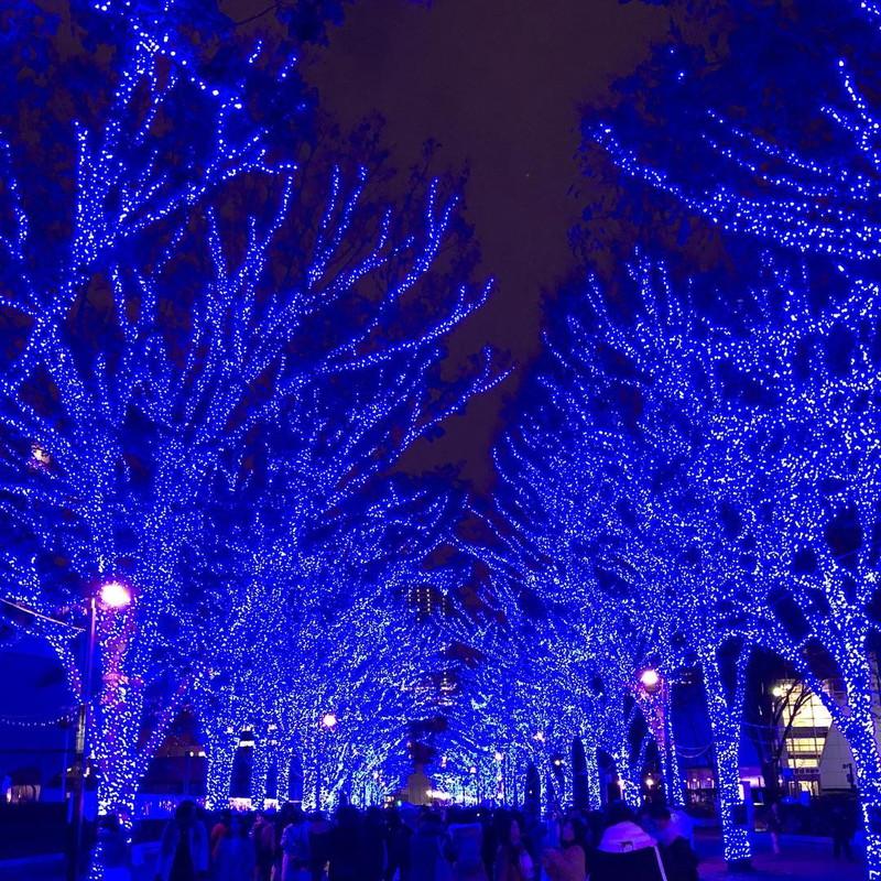 渋谷が真っ青な世界に!